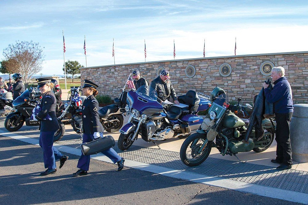 Every Tuesday, the Patriot Guard Riders gather at Miramar National Cemetery, home to 12,000 military dead since 2010, for a brief service.