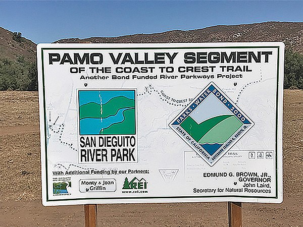 Pamo Valley sign