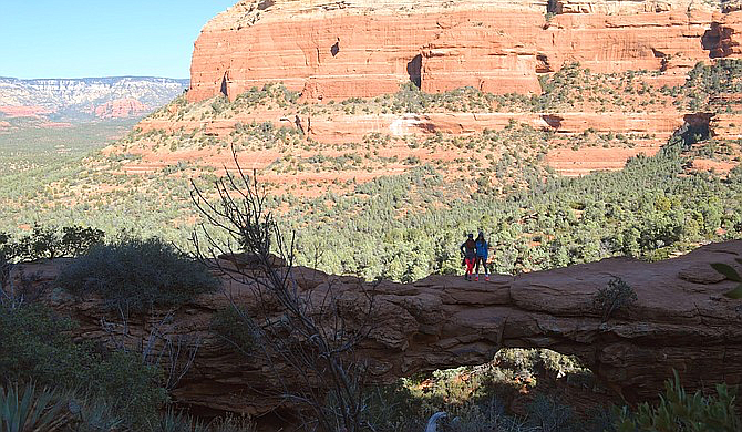 Photo op from Sedona's Devil's Bridge, about a 6.5 hour drive from San Diego.