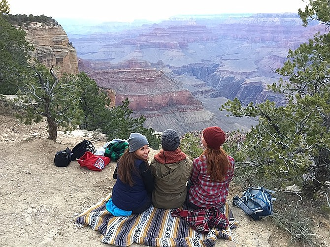 Sunset picnic at the South Rim's Mather Point.
