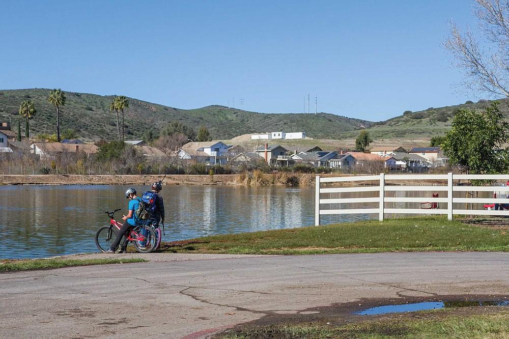 Fishing at Santee Lakes