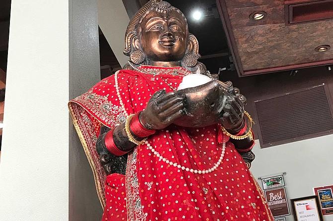 Keeping the good vibes going: House goddess, probably Ambaji