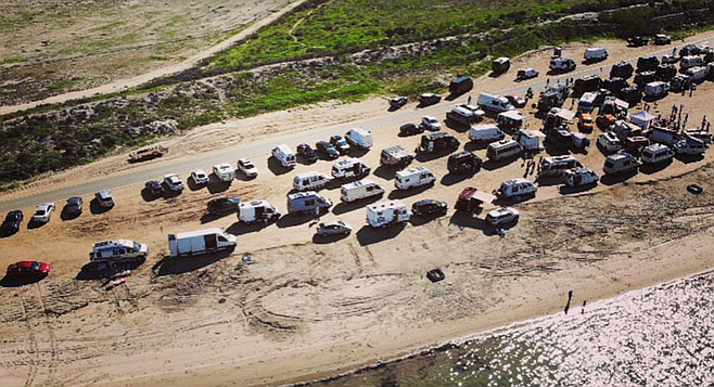 "Fiesta Island. ""There are van-lifers of all walks of life."""