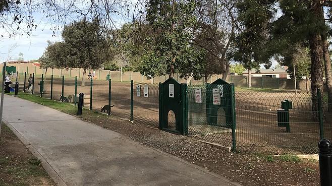 Veterans Dog Park on 8th Street