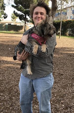"""Samuel Ruth's Daisy, his """"mutt-terrier"""""""