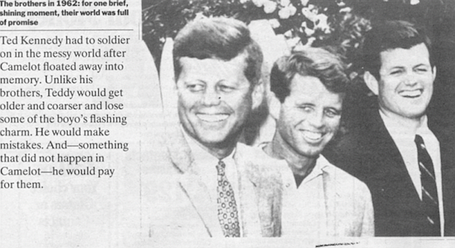 Jack, Bobby, Ted Kennedy in Apr. 29, 1991 issue of Time