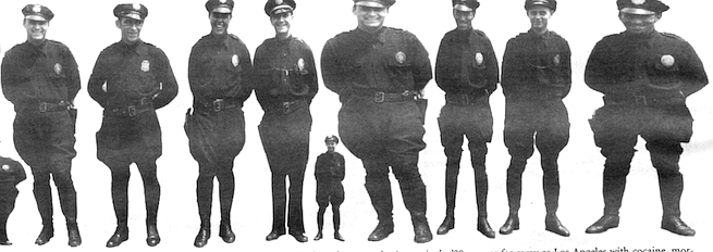 """About 1935, the era of the beat cop ended. """"When they put us in patrol cars, that personal touch was lost."""""""