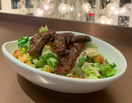 The Caesar Salad with steak