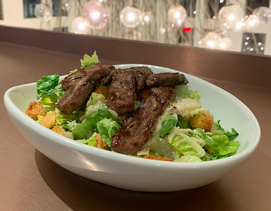 The Caesar Salad with steak