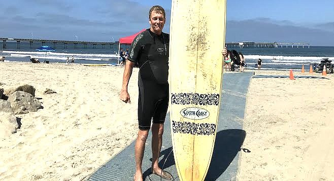 """Mark Kirchner: """"I like the South Coast brand and some days longboards are the better choice."""""""