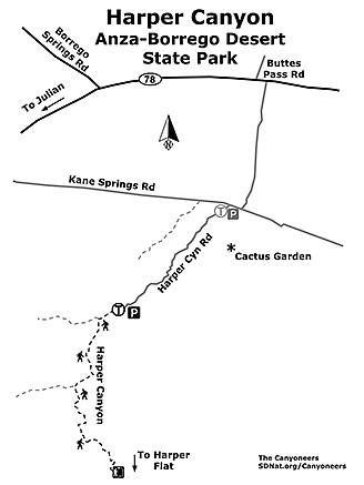 Harper Canyon map