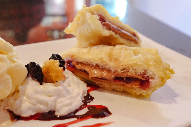 Tempura peanut butter and jelly