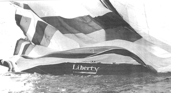 The newest of Conner's three, Liberty, is now back in a San Diego boat yard.