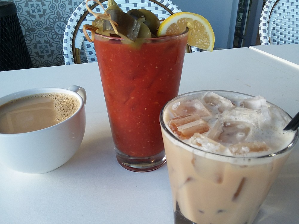 Besides coffee, the cafe serves morning cocktails for breakfast.