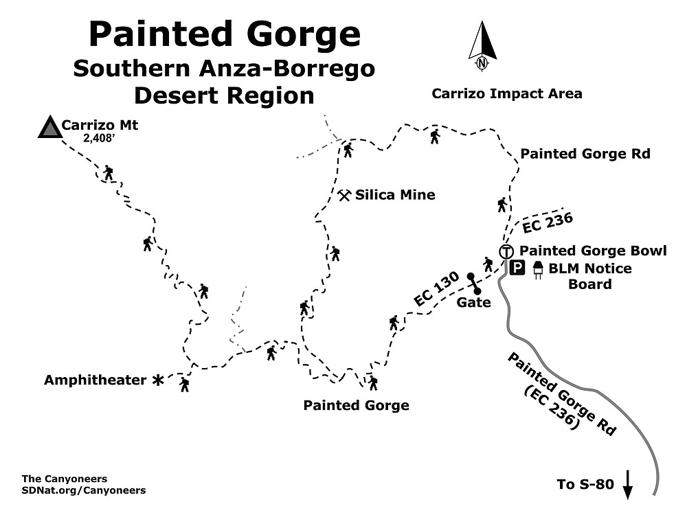 Painted Gorge map