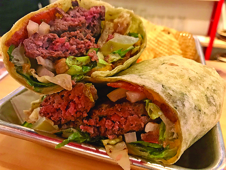 Is it a burger? Is it a wrap? Yes.