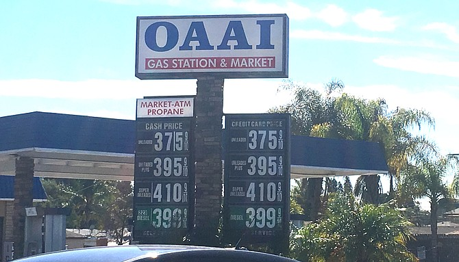 OAAI station on Center City Parkway and Ninth charges 16 cents more a gallon than the second highest.