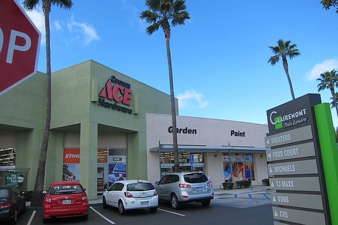 Ace was reported as one possible location in Clairemont Town Square.