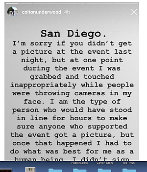 Underwood apology