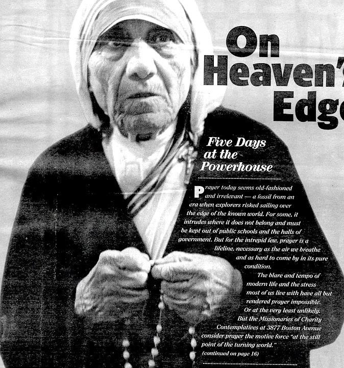 Mother Teresa in Tijuana, 1991