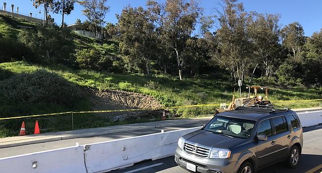 Sinkhole near Balboa Hospital entrance