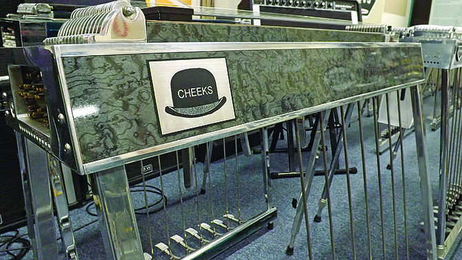 """""""Cheeks,"""" the last pedal steel guitar owned by the late master Buddy Emmons."""