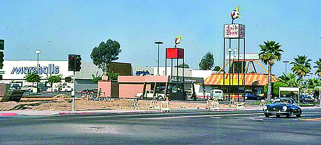 Clairemont Square circa 1970. Check out that Jack in the Box.