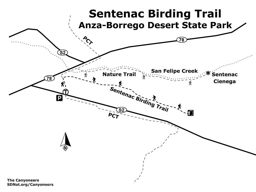 Sentenac Birding Trail map
