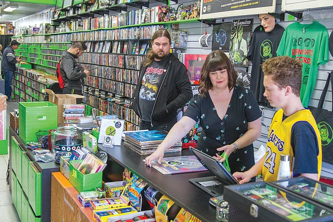 The Friesen family owns Re-Animated Records in the heart of downtown La Mesa