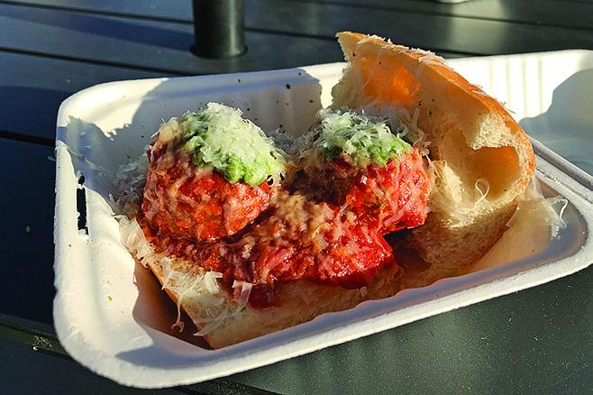 My HH meatball sandwich.