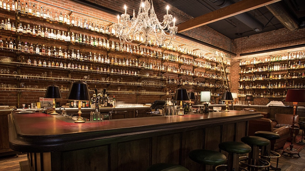 """We really like the way the Multnomah Whiskey Library in Portland looks."""