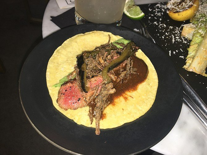 The filet mignon taco goes three steps beyond carne asada to a new realm of meatiness.