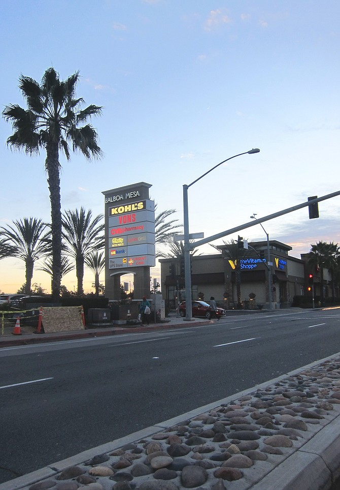 A nearby median on Balboa.