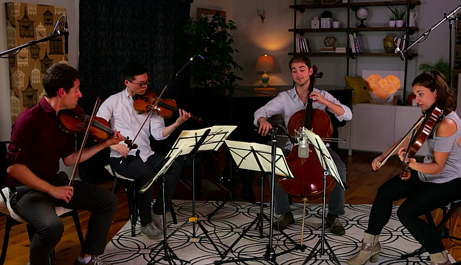 Dover Quartet playing Dvorak