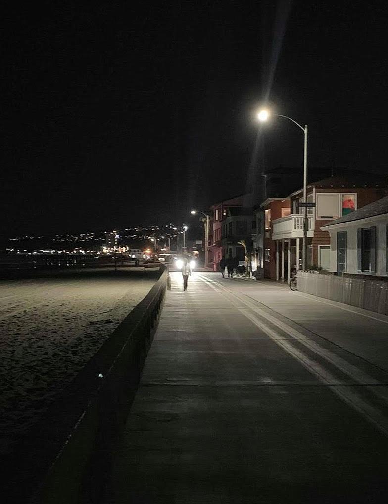 Nighttime boardwalk driver photo by Stephanie