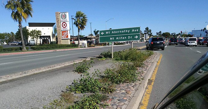 The median will be planted with blue glow agave, stalked bulbine, and red yucca.