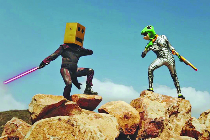 Digital Lizards of Doom look like the kind of band you'd find performing at Comic Fest.