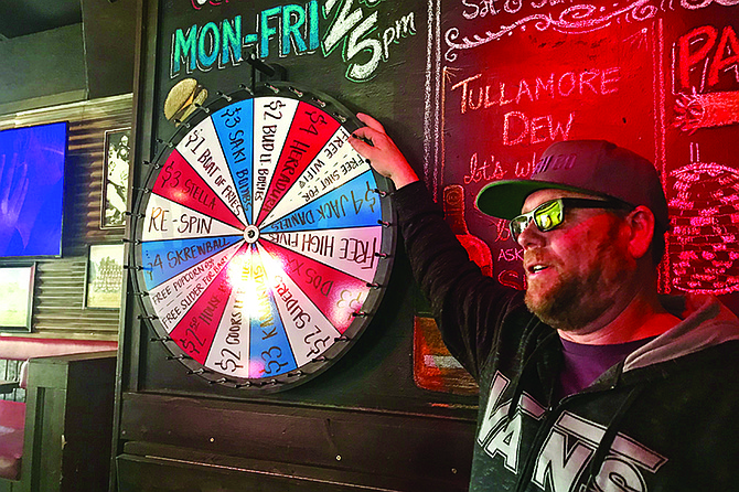 The wheel of happy hour fortune