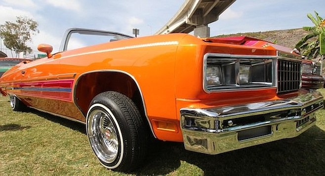 Lowriders at Chicano Park
