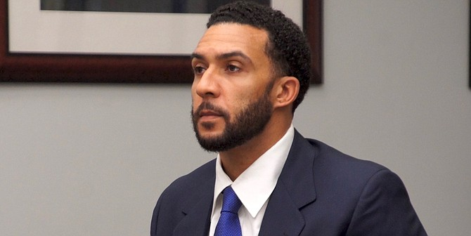 """Kellen Winslow (in court on Mar. 5) """"faces well over 100 years to life."""""""