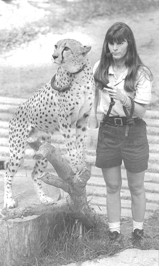 Maureen Hanley with Chobe