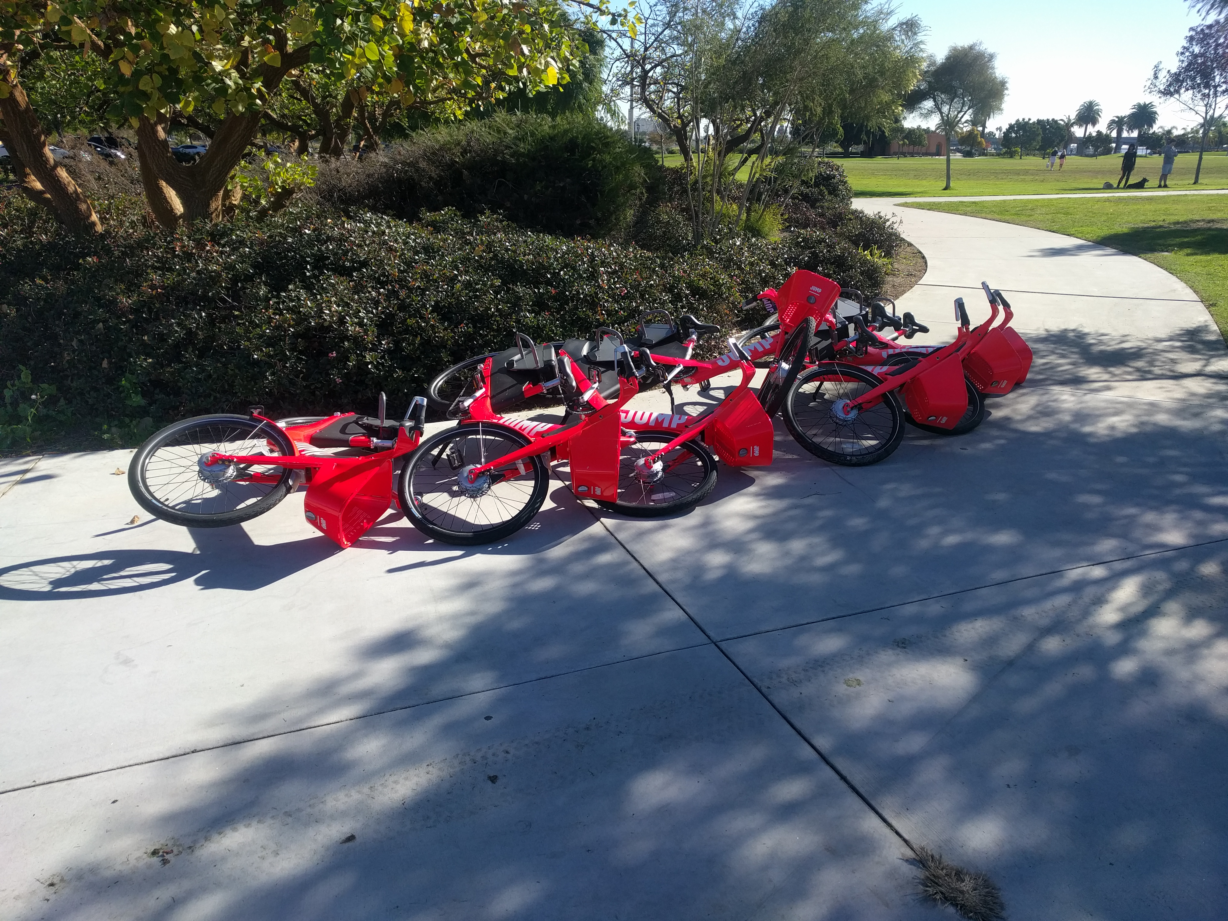 Jump bikes lay laid down liberty station even more