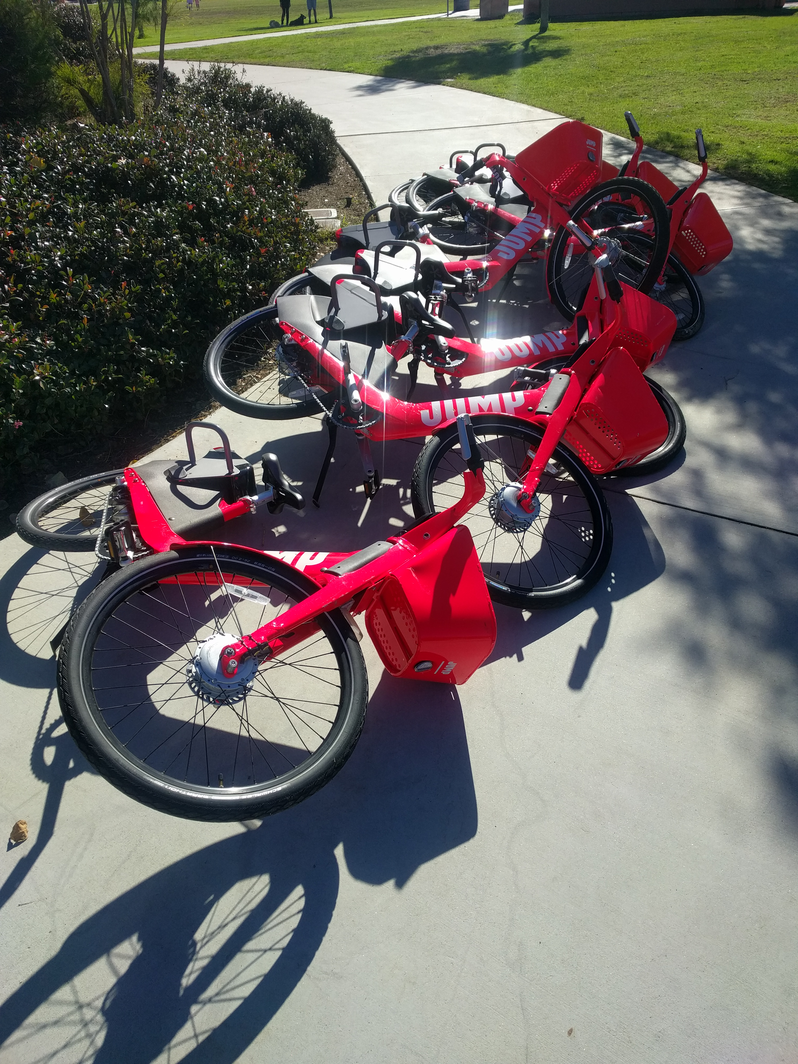 Jump bikes lay laid down liberty station