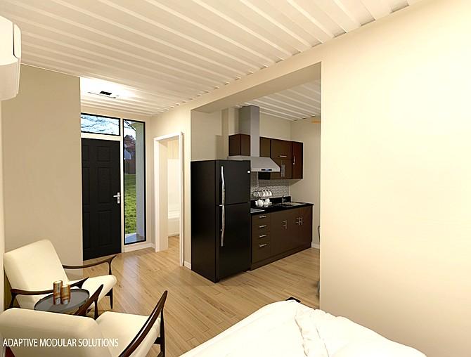 Each apartment will be 320 square feet. (Makana)