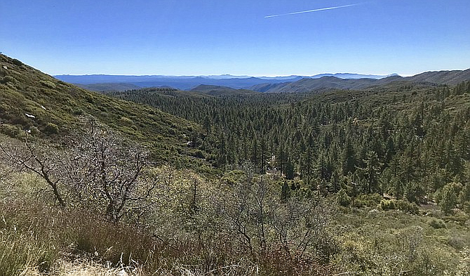 Mount Laguna lookout, 15 minutes' drive from Pine Valley.