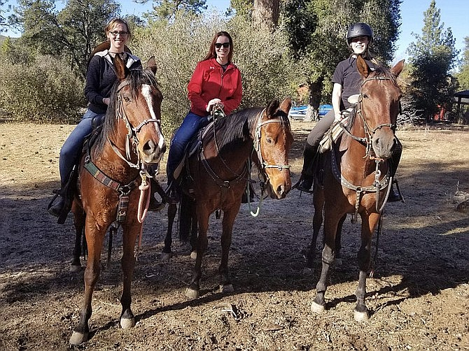 Trail riding group at San Diego Horse Trail Riding.