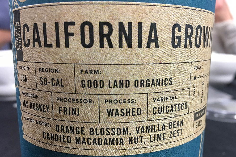 Coffee origin: So Cal