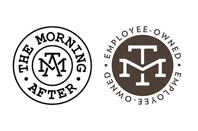 The Morning After logo (left) next to the pre-existing Modern Times Beer logo (right)