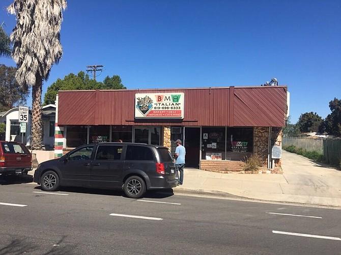 BMH Italian is located in La Mesa on El Cajon Blvd.