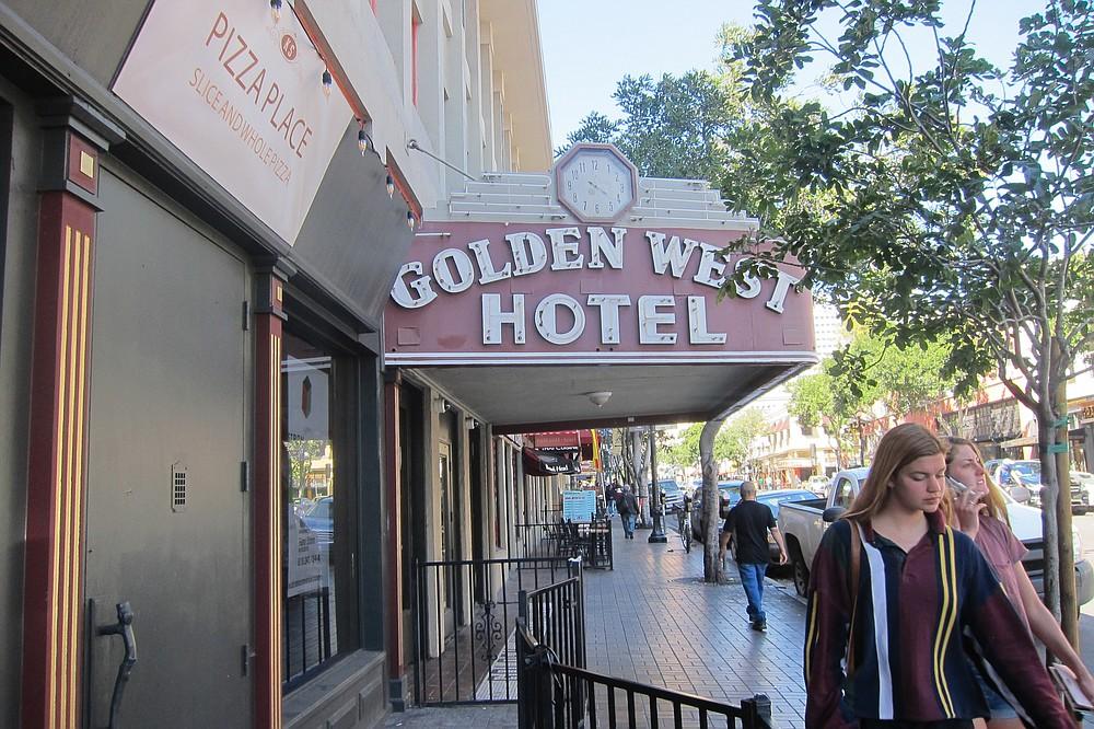 Golden West SRO is within eyesight of The Plaza SRO.